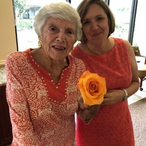 Senior living flowers