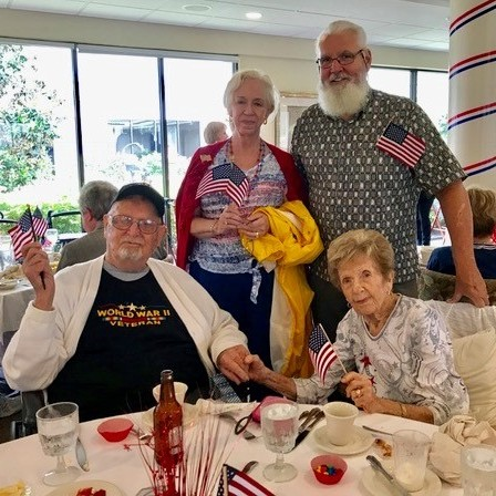 Group of seniors at memorial day celebration